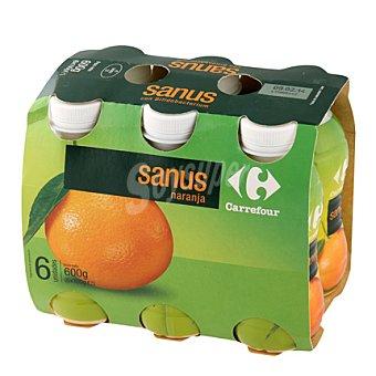 Carrefour Yogur líquido Sanus sabor naranja + vitamina C Pack de 6x100 g