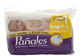 Deliplus Pañal 2-4kg Talla 1 Paquete 28 u