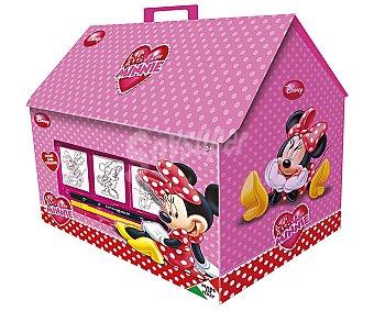 Disney Bonita casita con dibujos de Minnie, que incluye 7 sellos, 1 almohadilla de tinta, 3 marcadores lavables con agua y 1 libro 1 Unidad