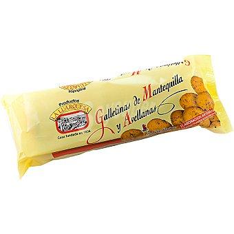 LA LUARQUESA Galletinas de mantequilla y avellanas Envase 175 g