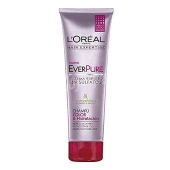 L'Oréal-Hair Expertise Champú color & hidratación everpure para cabellos teñidos 250 ml