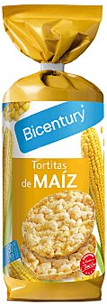 Bicentury Tortitas de maíz nackis Estuche 130 g