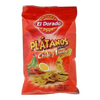 El Dorado Snack de plátano sabor chile y limón El Dorado 100 g