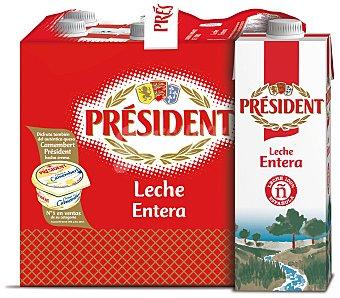 Président Leche entera Pack 6 briks x 1 l
