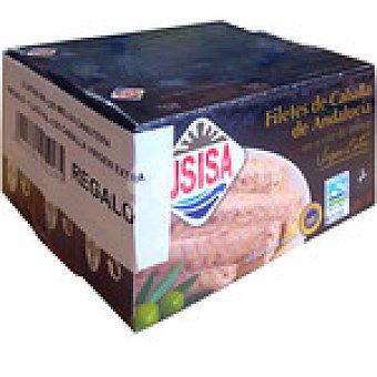 Usisa Melva canutera de Almadraba en aceite de oliva pack 2 latas 78 g neto escurrido con regalo de 1 lata filetes caballa de Andalucía Pack 2 latas 78 g