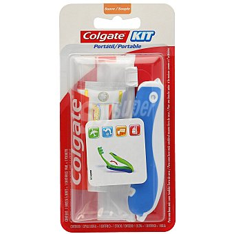 Colgate Kit de viaje con un cepillo dental + una pasta dentífrica 1 ud