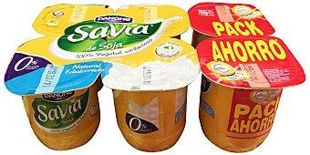 Savia Danone Postre soja natural savia 6 unidades de 125 g