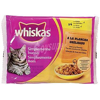PLANCHA Aves a la en trocitos con gelatina para gatos Pack 4 bolsa 85 g