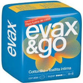 EVAX & GO Compresas Super con alas 8 unidades