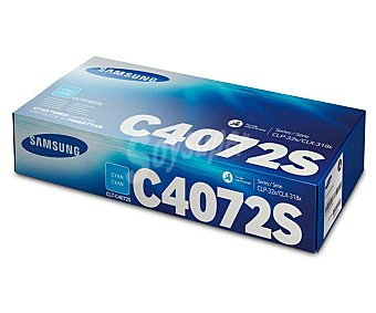 Samsung Toner C4072, Cian, compatible con impresoras: CLP-320 / CLP-320N / CLP-325 / CLP-325W / CLX-3180 / CLX-3185 / CLX-3185FN / CLX-3185FW / CLX-3185N / CLX-3185W