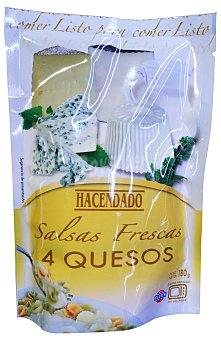 Hacendado Salsa fresca 4 quesos Sobre 180 g