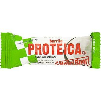 NUTRISPORT Barrita proteica sabor coco unidad 44 g
