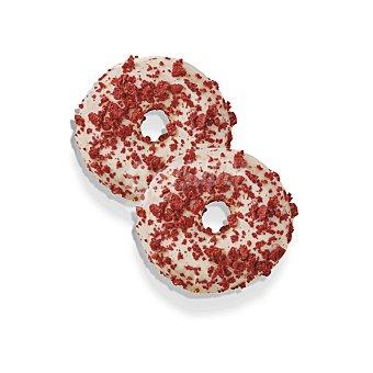 Carrefour Berlinas blanco y rojo rellenas de yogurt Carrefour 4 ud