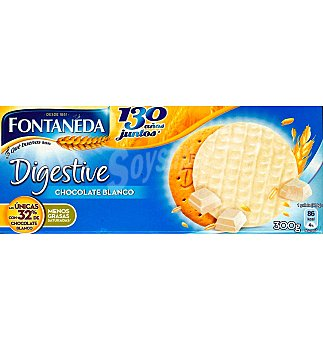 Fontaneda Digestive Galletas chocolate blanco 300 G