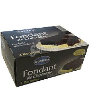 Goshua Fondant de chocolate Pack de 2x100 g