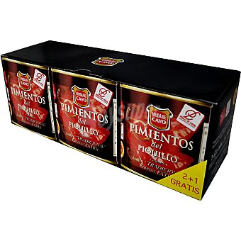 Viuda de Cayo Pimiento del piquillo entero D.O. Lodosa pack 2 envase 180 g neto escurrido Pack 2 envase 180 g