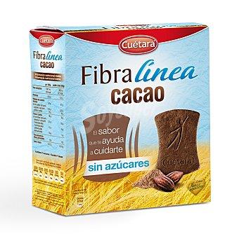 Cuétara Galletas Fibra Línea de cacao sin azúcares Paquete 360 g