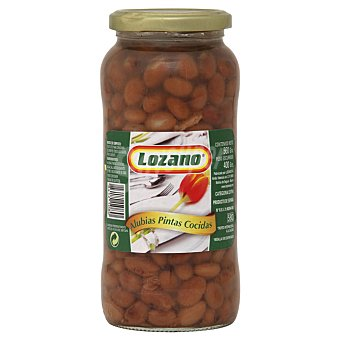 Lozano Alubia pinta cocida Frasco 560 g