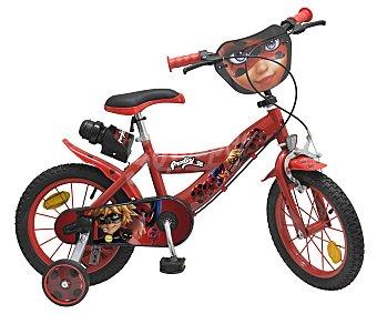 "Ladybug Bicicleta 14"" Prodigiosa, cuadro de acero y frenos Caliper, incluye botella BUG."