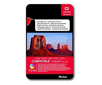 Auchan Cartucho Color BCI-/2124 (C2) - Compatible con impresoras:canon BJC-400J / 410J / 410J / 455J / 2000 / 2000SP / 2115 / 4000 / 4100 / 4200 / 4300 / 4310SP / 4304 Photo / 4400 / 4550 / 4650 / 5000 / 5100 / 5500 / S100SP / S200 / S300 / S330 / i250 / i320 / i350 / i450 / i455 / /470D / i47D CFX-B380IF