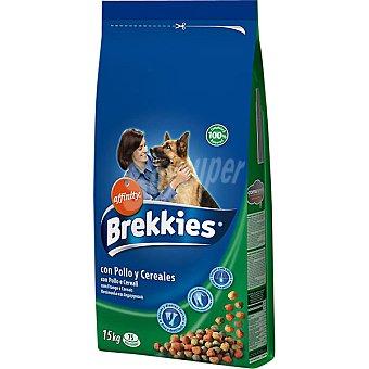 con pollo y cereales para perros Paquete 15 kg