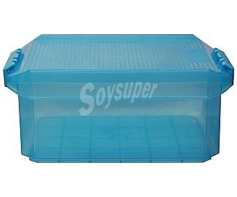 TATAY Caja de ordenación multiúsos con capacidad de 4,5 litros fabricada en plástico resistente color turquesa translúcido 1 Unidad