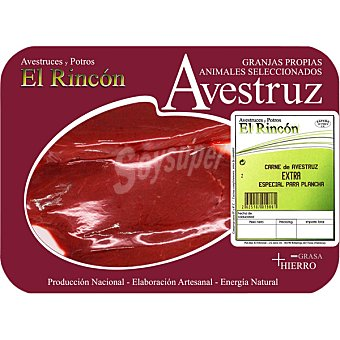 RINCON Filetes extra de avestruz bandeja 300 g peso aproximado 2-3 unidades
