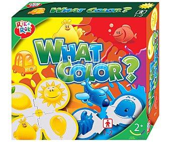 Rik&Rok Auchan Juego de puzzles para aprender los colores, What's color? Incluye 5 puzzles de 4 piezas 1 unidad