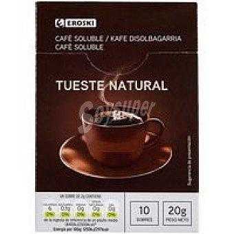 Eroski Café soluble natural Caja 10 sobres
