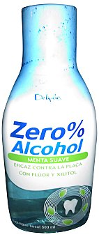 Deliplus Enjuague bucal zero% alcohol menta suave (azul claro) Botella 500 ml