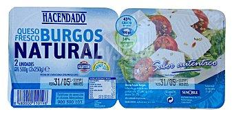 Hacendado Queso fresco burgos Pack 2 x 250 g - 500 g