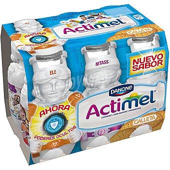 DANONE ACTIMEL yogur líquido sabor galleta  pack 6 unidades 100 ml