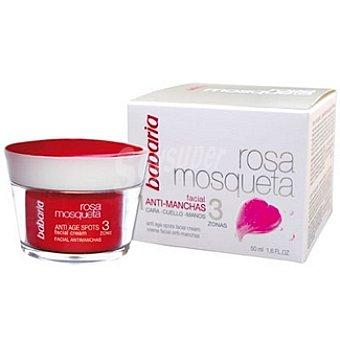 Babaria Rosa mosqueta crema anti-manchas 3 zonas cara-cuello-manos Frasco 50 ml
