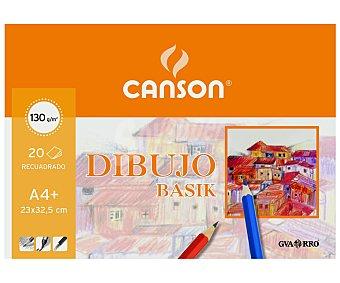Canson Bloc de dibujo con 20 hojas recuadradas de 150 gramos y de 32.5x23 centímetros (din A4+) 150 gramos