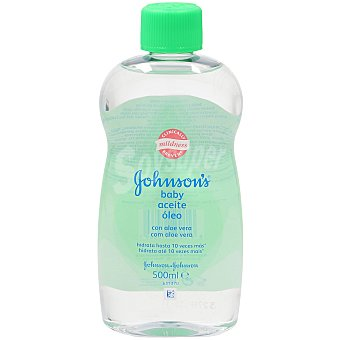 Johnson's Baby Aceite corporal con aloe vera Botella de 500 ml