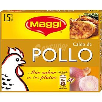 Maggi Caldo pollo Caja 15 pastilla 157 gramos