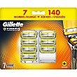 5 recambio de maquinilla de afeitar Blister 7 unidades Gillette Fusion Proshield