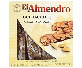 EL ALMENDRO Turrón de guirlache (almendras y anís) 240 gramos