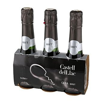 Castell del Llac Cava brut blanco - Exclusivo Carrefour Pack 3x20 cl
