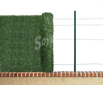GARDELYS Seto artificial de PVC con dos tonos de verde oscuro, con 30 varillas por metro lineal unidas por alambre de 1.2 ml y hoja con ancho de 4 a 5 ml 1 unidad