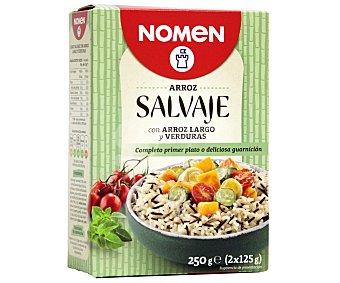 Nomen Arroz salvaje con arroz largo y verduras 250 gramos