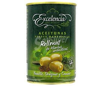 Excelencia Aceitunas Rellenas Hierbas Aromáticas 130g