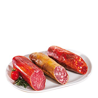 Abrilisto Surtido embutido blanco (jamón, chorizo y salchichón) Envase de 120 g