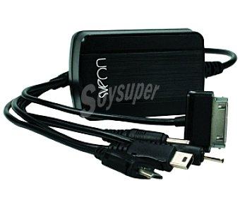 SVEON Cargador de pared universal 220V, 3A, con 5 conectores (compatible con el 98% de Tablets y móviles)
