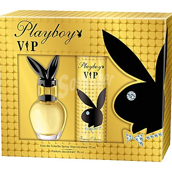 Playboy Fragrances eau de toilette femenina Vip vaporizador + desodorante perfumado spray 75 ml