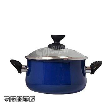 Magefesa Olla con tapa de acero esmaltado Mod Danubio 16 cm azul 1 ud