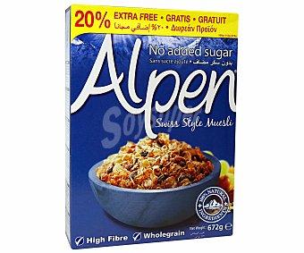 Alpen Muesli sin azúcar Paquete 560 g