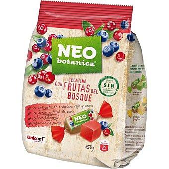 Neo Caramelos de gelatina con frutas del bosque y extracto de arándano rojo y negro con colágeno y sin gluten botanica Bolsa 150 g