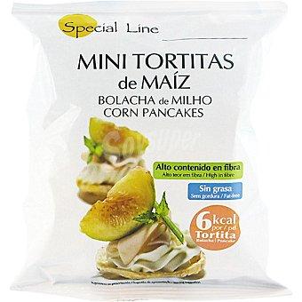 Special Line Mini tortitas de maiz sin grasa alto contenido en fibras envase 30 g Envase 30 g