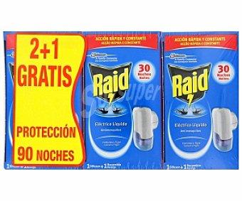 RAID Insecticida eléctrico líquido aparato 3 Unidades